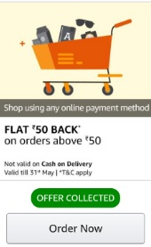 amazon Rs 50 cashback
