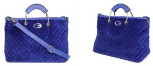 GIORDANO Blue Quilted Handheld Bag