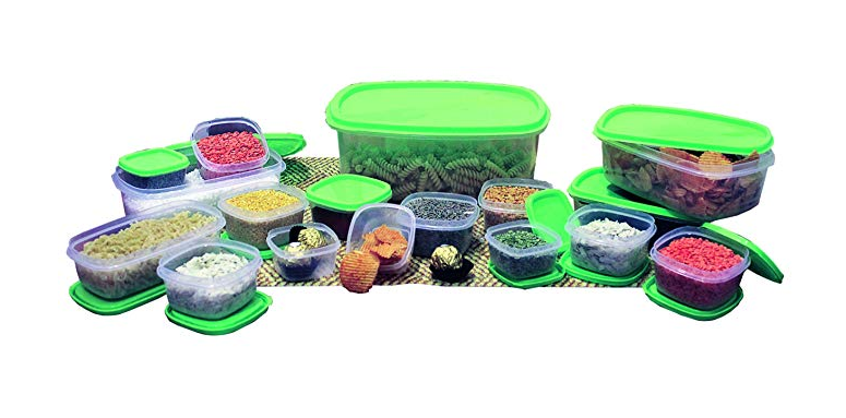 Princeware Container Combo Set, 17 Pieces, Green
