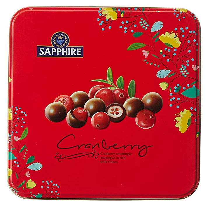 Sapphire Chocolate Coated Nuts, Cranberry, 200g