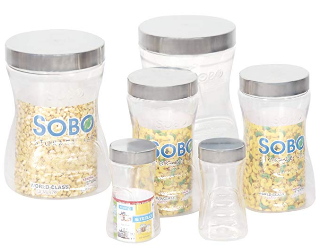 Steelo Sobo Container Set, 6-Pieces