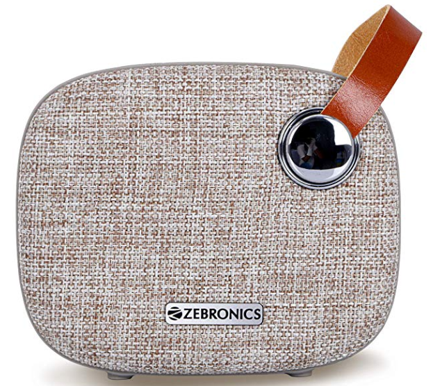 Zebronics Knight Portable Bluetooth Speakers (Brown)