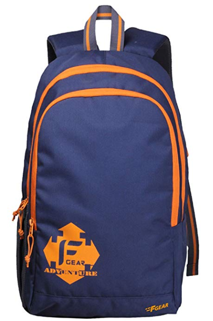 F Gear Castle NBO 24 Ltrs Orange Polyester Casual Laptop Backpack
