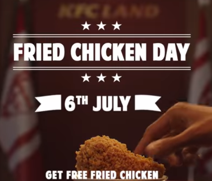 kfc fried chicken day