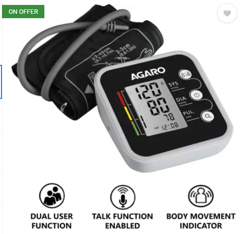 Agaro Automatic Digital Blood Pressure Monitor