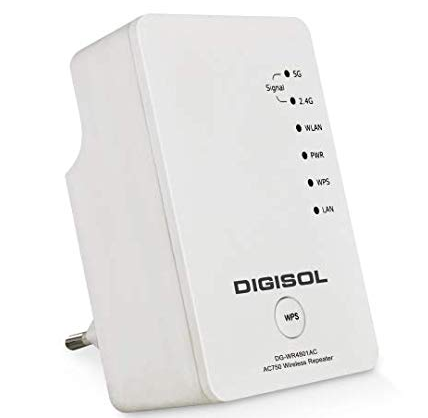 Digisol DG-WR4801AC AC750 Dual-Band Wireless Repeater