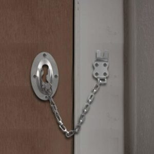 Klaxon Steel Door Chain (Silver, Chrome Finish)