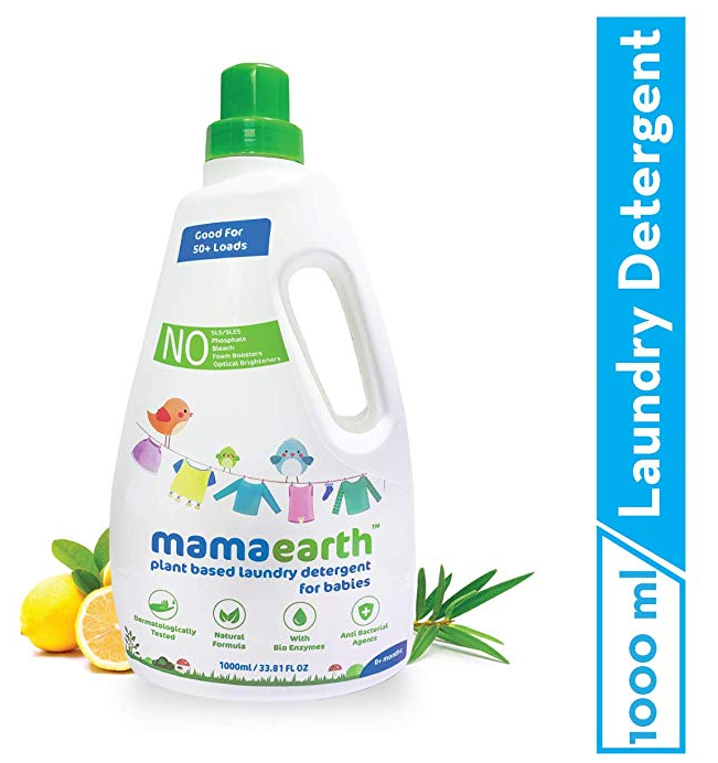 Mamaearth's Plant Based Baby Laundry Liquid Detergent