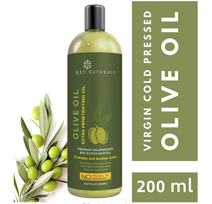 Rey Naturals Pure Cold Pressed Therapeutic Grade Olive Oil For Hair and Skin