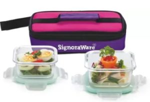 Signoraware Midday 2 Containers Lunch Box  (320 ml)