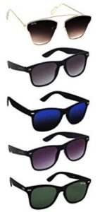 Silver Kartz Best Selling Gift Pack of UV 400 Protection Unisex Sunglasses Pack of 5