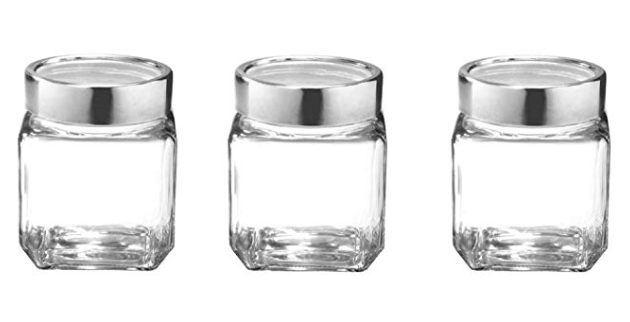 Treo by Milton Cube Jar Storage Container, Set of 3, 180 ml