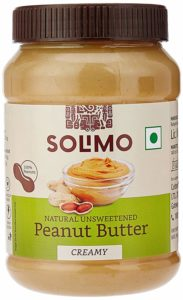 Amazon Brand - Solimo Natural Unsweetened Peanut Butter