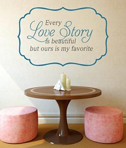 Decals Design Every Love Story is Beautiful Wall Sticker