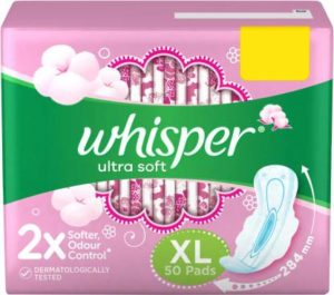 Flipkart- Buy Whisper Ultra Soft XL Sanitary Pad