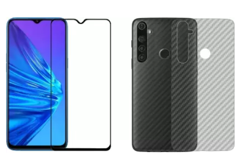 Karpine Front and Back Screen Guard for Realme 5