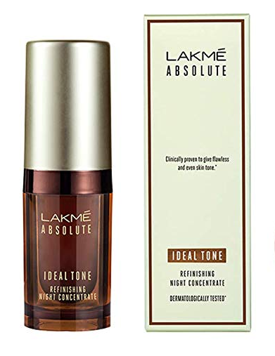 Lakme Absolute Ideal Tone Refinishing Night Concentrate, 15 ml