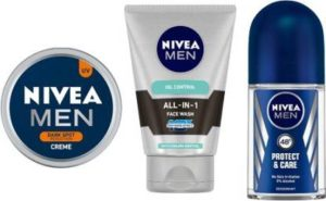 Nivea MEN Dark Spot Reduction Crme (150ml), All In One Face Wash (100ml), Prodtect & Care Roll On (50ml)