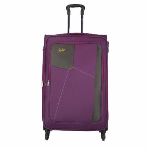 Skybags Rubik Polyester 58 Cms Purple Softsided Cabin Luggage