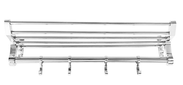Spartan TR 1501 B-18 Steel 18 Inch Chrome Plated Folding Towel Rack