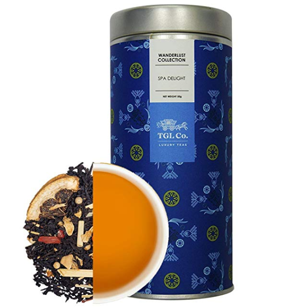 TGL Spa Delight Black Tea Loose Leaf Tea for Skin