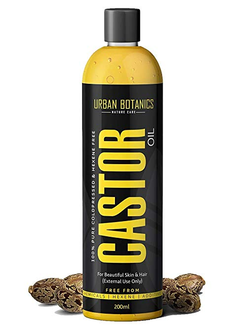 UrbanBotanics Cold Pressed Castor Oil for Hair Growth, Skin Care