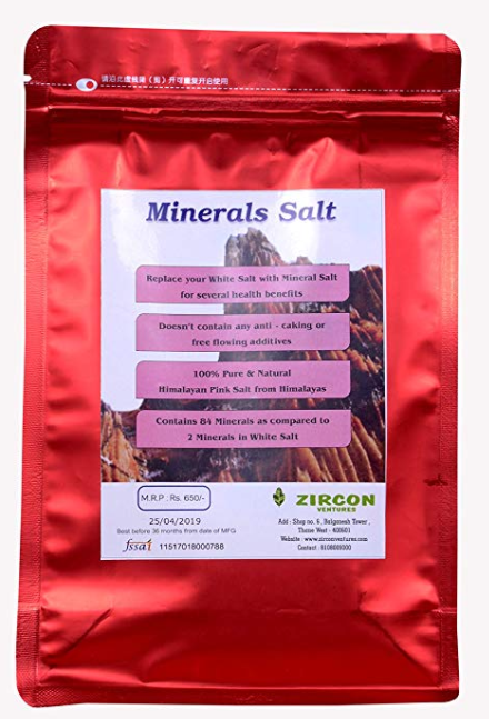 VIGOUR Mineral Salt for Cooking & Culinary - 100% Natural (500gms)