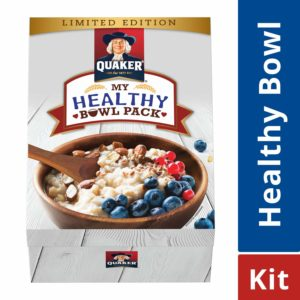 Amazon- Buy Quaker Oats - 1 Kg with Wooden Bowl & Spoon