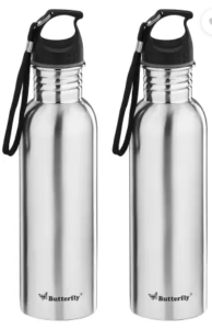 Butterfly Eco SS 750 ml Bottle  (Pack of 2, Silver)