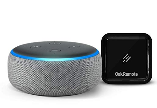 Echo Dot (Grey) bundle with OakRemote