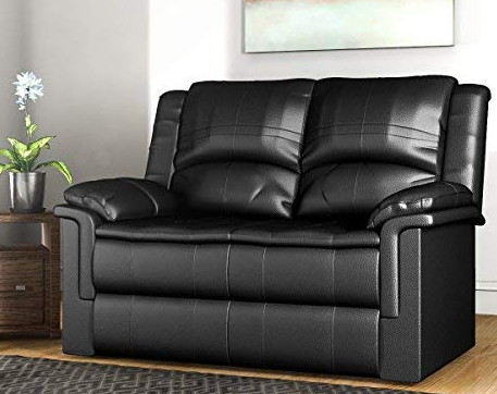 Forzza Ryan 2 Seater Recliner Sofa Black PU