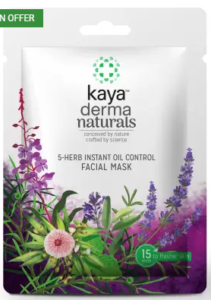 Kaya Clinic 5-Herb Instant Oil Control Facial Mask (20 g)