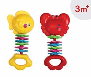 Luvlap Fish and Crab Teether Rattles for Rs 148 amazon dealnloot