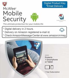 McAfee Mobile Security 1 Device 1 Year Rs 29 amazon dealnloot