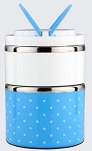 SignoraWare Easy Mate Stainless Steel 2 Tier Lunch Box, Blue