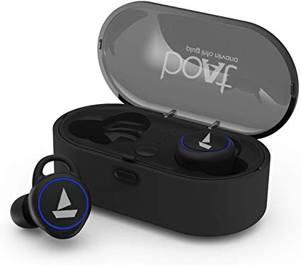 Amazon Buy Boat Airdopes 311v2 True Wireless Earbuds Bluetooth V5 0 With Hd Sound And Sleek Design Integrated Controls With In Built Mic And 500mah Charging Case Active Black For Rs 2499