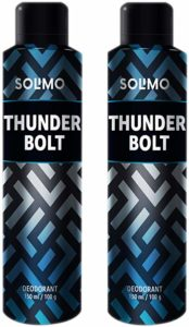 Amazon Brand Solimo Thunder Bolt Deodorant For Rs 169 amazon dealnloot