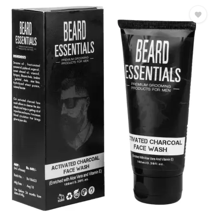 Beard Essentials Hydrating Activated Charcoal Face Wash  (100 ml)