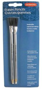 DERWENT Eraser Pencil and Brush Blister (Pack of 2)