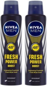 Nivea Men Fresh Power Boost Deodorant Spray Rs 199 flipkart dealnloot