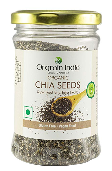 Orgrain India Certified Organic Chia Seeds - 150 GMS