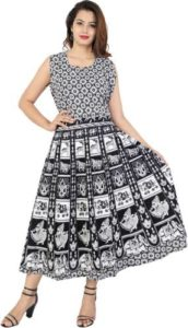 Unique Choice Women Fit and Flare Black Rs 275 flipkart dealnloot