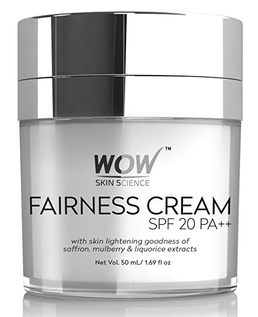 WOW Fairness SPF 20 PA++ No Parabens & Mineral Oil Cream, 50mL