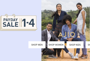 Ajio Steal- Get Min 80% off on Clothing + extra Rs 1000 off on shopping worth Rs 2000