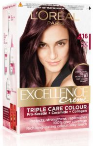 Amazon- Buy L'Oreal Paris Excellence Creme Hair Color, 4.16 Deep Plum, 72ml+100g  at Rs 118