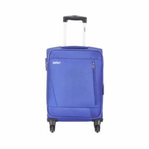 Amazon- Buy Safari Savage 77 Cms Polyester Blue Check-In 4 wheels Soft Suitcase
