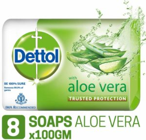 Amazon- Buy Dettol - 100 g (Pack of 8, Aloe Vera) at Rs 203