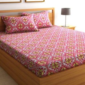 Flipkart SmartBuy 104 TC Cotton Double Geometric Bedsheet