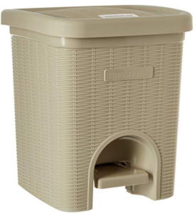 Signoraware Modern Lightweight Dustbin for Home and Office 12Ltr, Beige