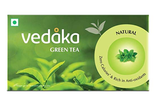 Amazon Brand  Vedaka Green Tea, Natural , 25 Bags
